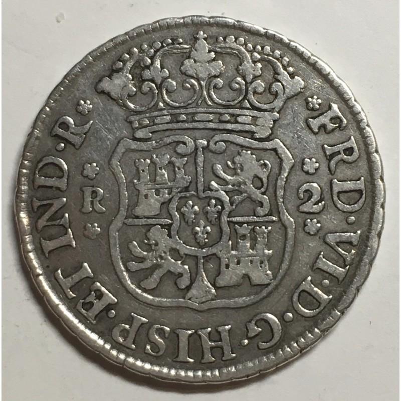 2 REALES FERNANDO VI 1758 MÉJICO (COLUMNARIO)