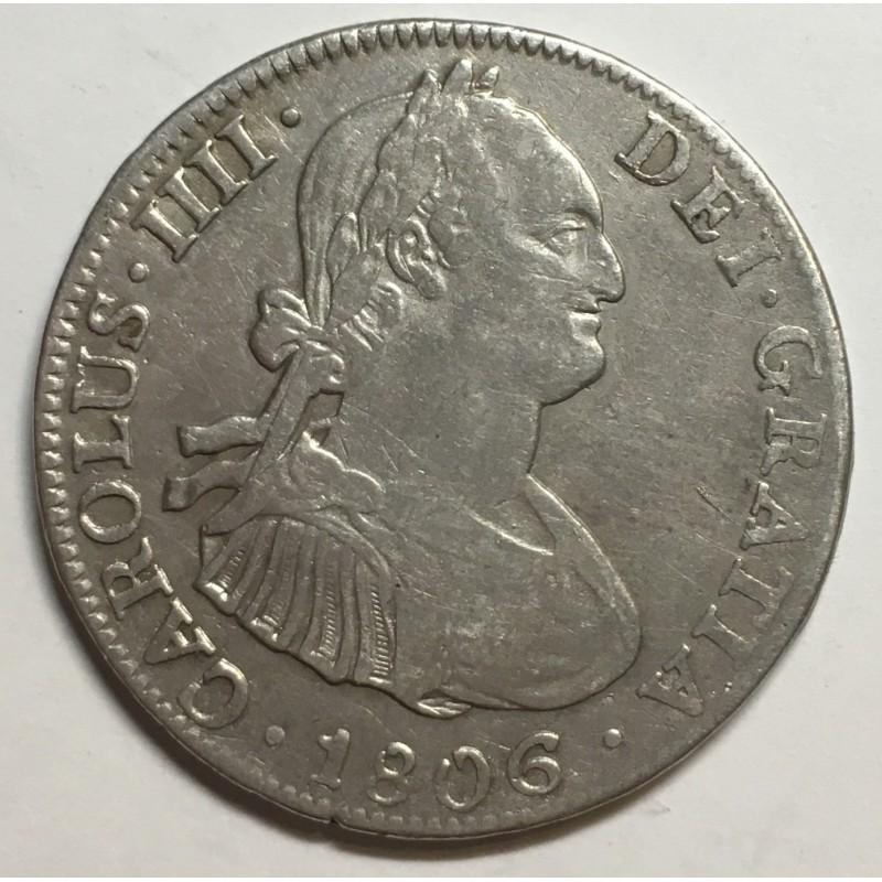 4 REALES CARLOS IV 1806 MÉJICO