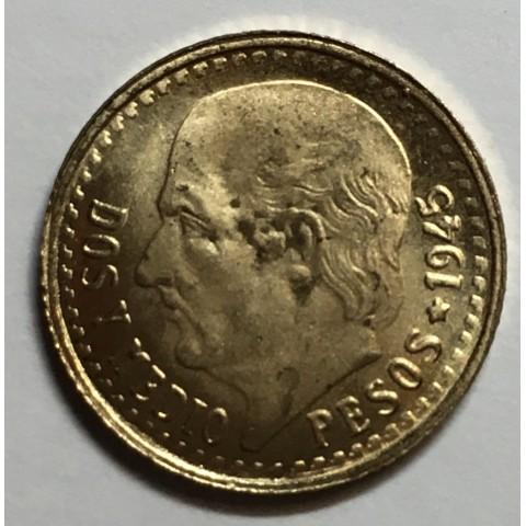 2 PESOS Y MEDIO 1945 MÉJICO
