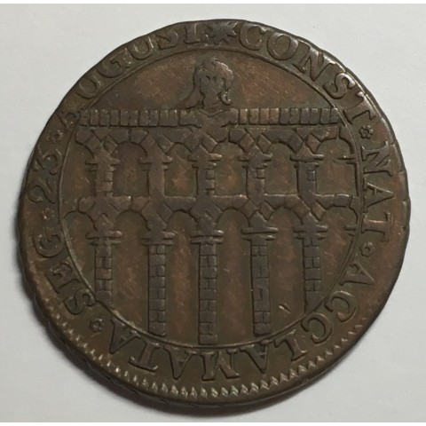 MEDALLA DE PROCLAMACIÓN DE LA CONSTITUCIÓN FERNANDO VII 1812 SEGOVIA