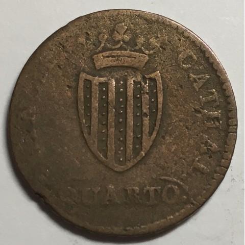 1 CUARTO FERNANDO VII 1813 CATALUÑA