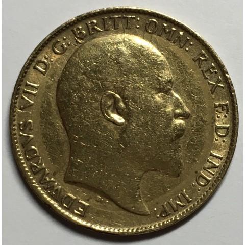 1/2 LIBRA REINO UNIDO 1902