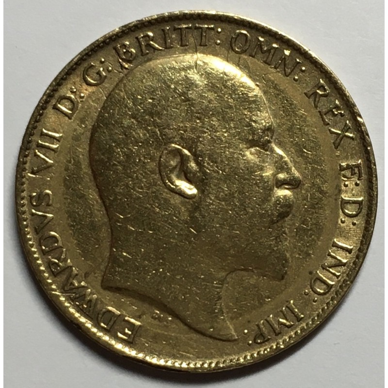 1/2 LIBRA REINO UNIDO 1901