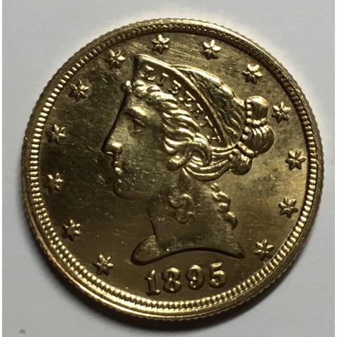 5 DOLARES USA 1895