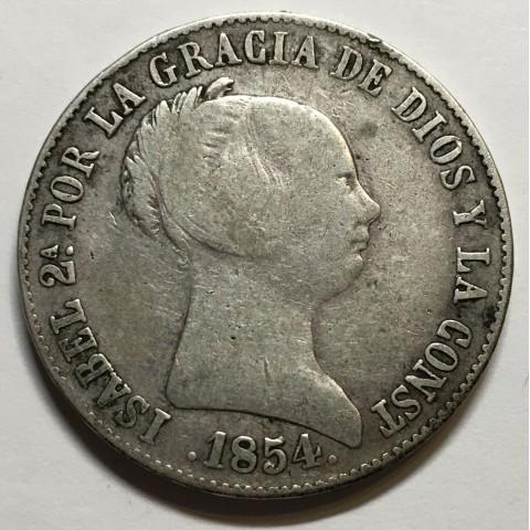 10 REALES ISABEL II 1864 BARCELONA