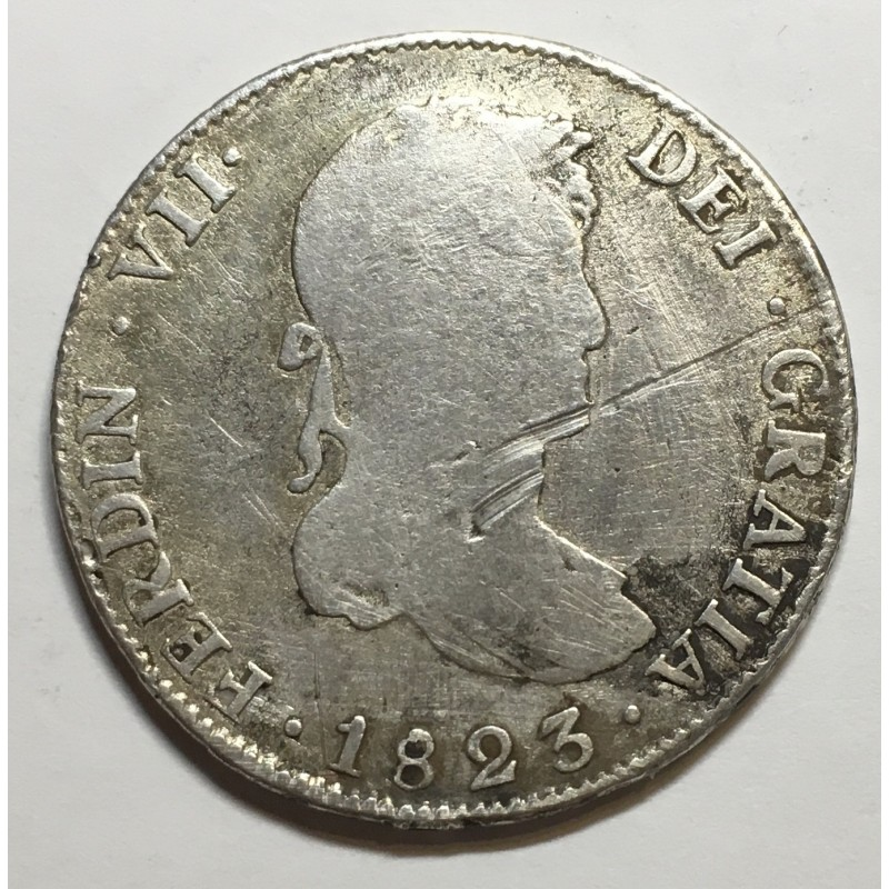 4 REALES FERNANDO VII 1823 POTOSÍ