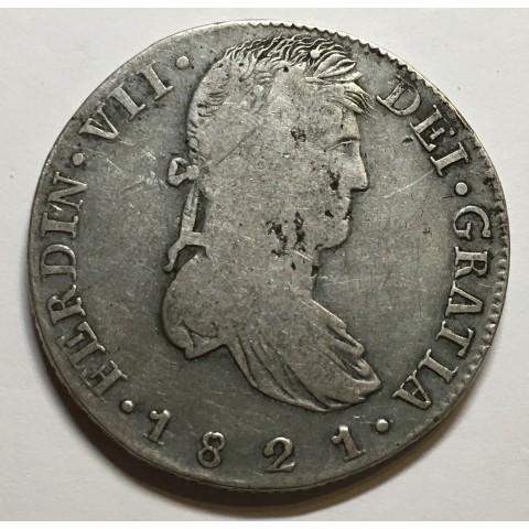 8 REALES FERNANDO VII 1821 ZACATECAS