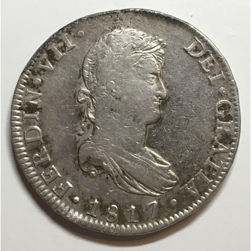 8 REALES FERNANDO VII 1817 MEJICO