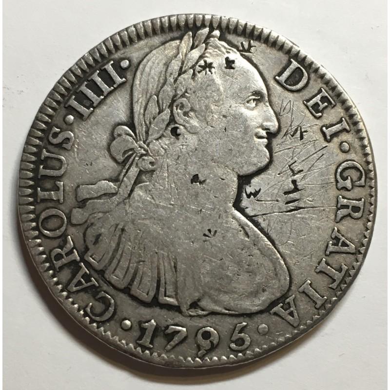 8 REALES CARLOS IV 1796 MEJICO (resellos chinos)