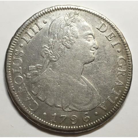 8 REALES CARLOS IV 1796 POTOSÍ