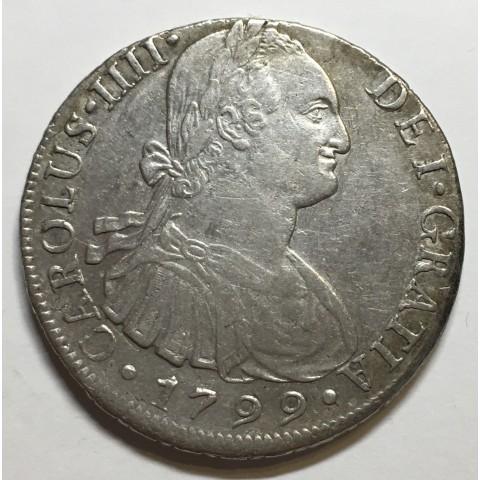 8 REALES CARLOS IV 1799 LIMA