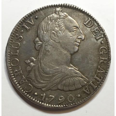 8 REALES CARLOS IV 1790 MEJICO (escasa)