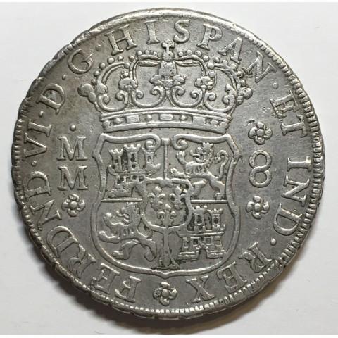 8 REALES FERNANDO VI 1756 MEJICO (columnario)