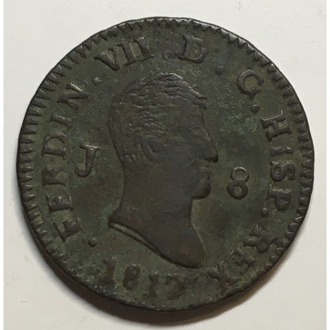 8 MARAVEDIS FERNANDO VII 1817 JUBIA