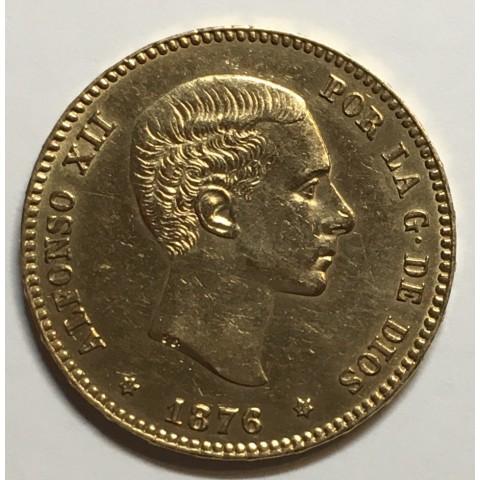 25 PESETAS ALFONSO XII 1876 76*