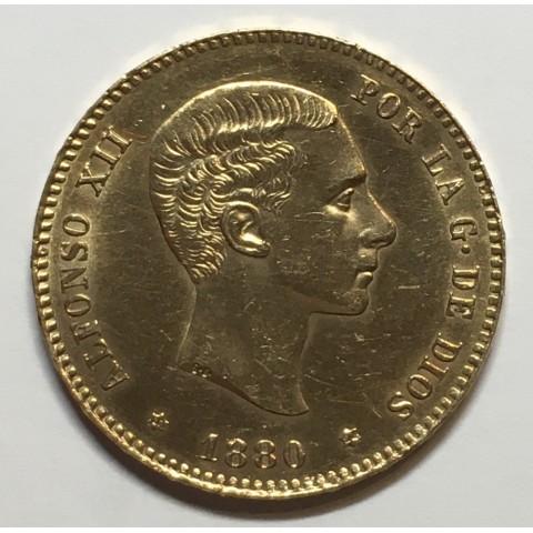 25 PESETAS ALFONSO XII 1880 80*