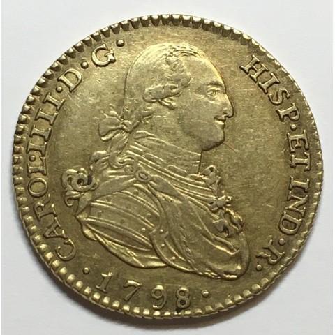 2 ESCUDOS CARLOS IV 1798 MADRID