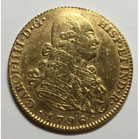 4 ESCUDOS CARLOS IV 1796 MADRID