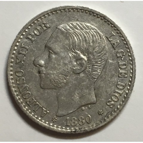 50 CENTIMOS ALFONSO XII 1880 81*