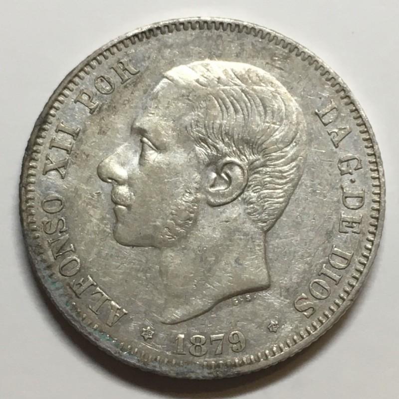 2 PESETAS ALFONSO XII 1879 79*