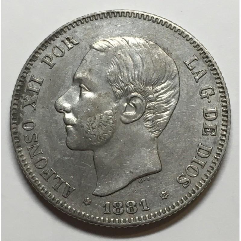 2 PESETAS ALFONSO XII 1881 81*
