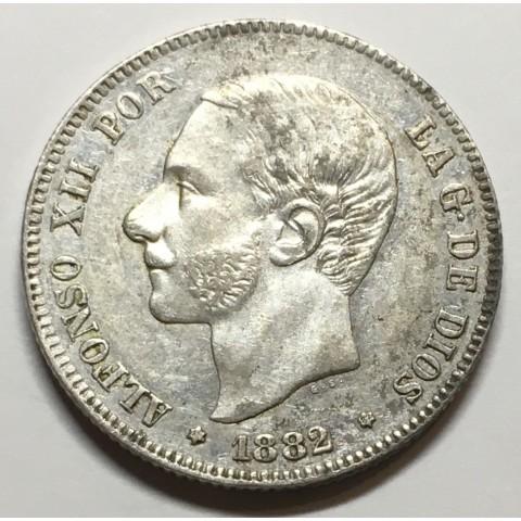 2 PESETAS ALFONSO XII 1882 82*