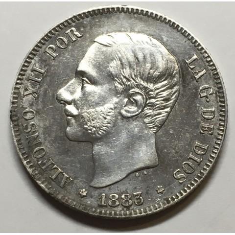 2 PESETAS ALFONSO XII 1883 83*
