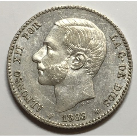 1 PESETA ALFONSO XII 1883 83*
