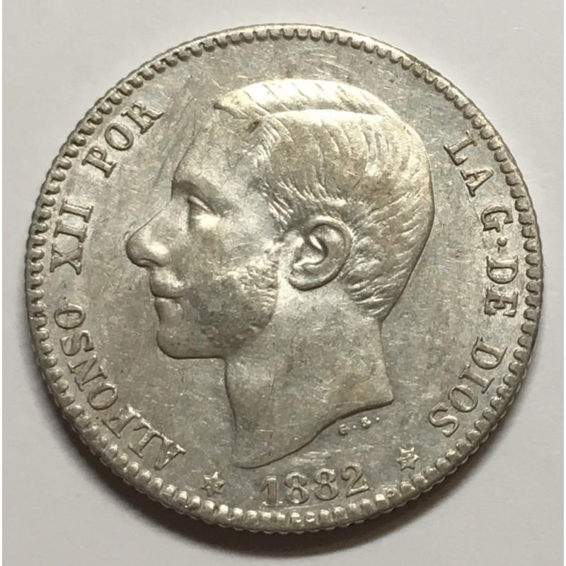 1 PESETA ALFONSO XII 1882 82*