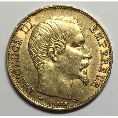 20 FRANCOS FRANCIA 1859