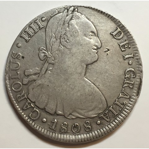 8 REALES CARLOS IV 1808 LIMA