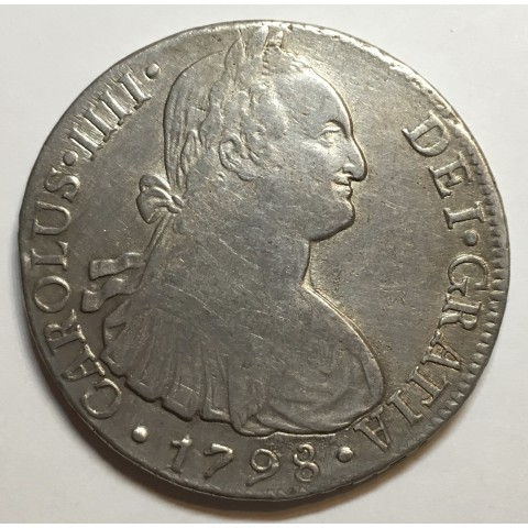 8 REALES CARLOS IV 1798 LIMA