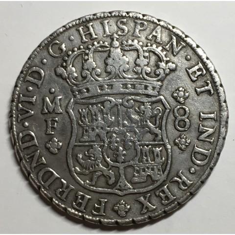 8 REALES FERNANDO VI 1750 MEJICO (columnario)