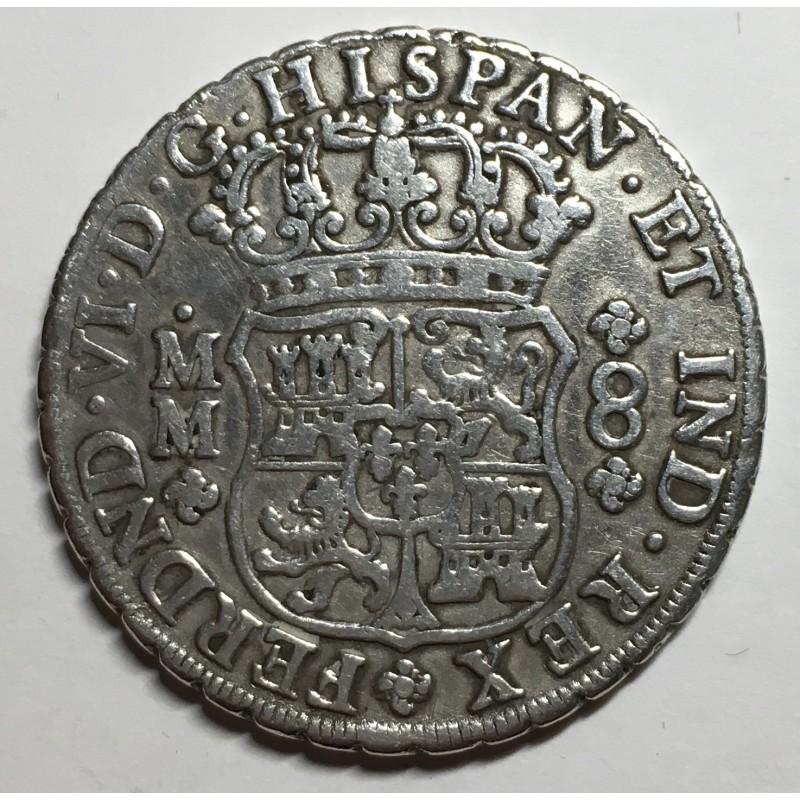 8 REALES FERNANDO VI 1755 MEJICO (columnario)