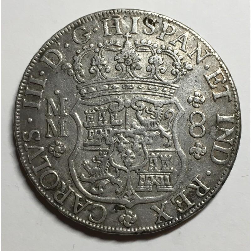 8 REALES CARLOS III 1762 MEJICO (COLUMNARIO)