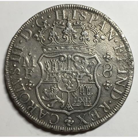 8 REALES CARLOS III 1770 MEJICO (COLUMNARIO)