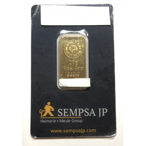 Lingote de oro 20 gramos 9999 BLISTER Marca SEMPSA