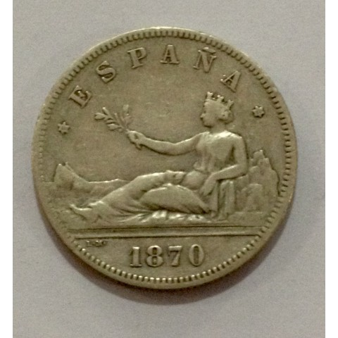 2 Pesetas Gobierno Provisional 1870*70