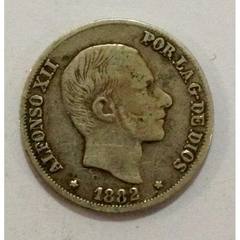 10 Centavos de Peso Alfonso XII 1882