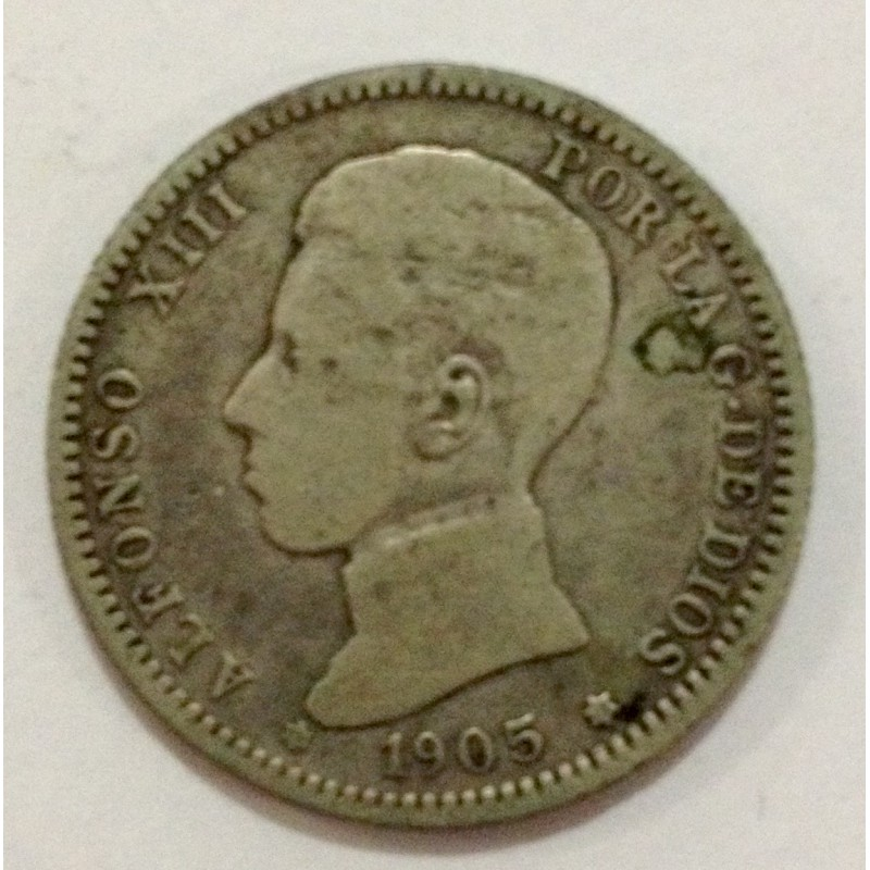 1 Peseta Alfonso XIII 1905*05