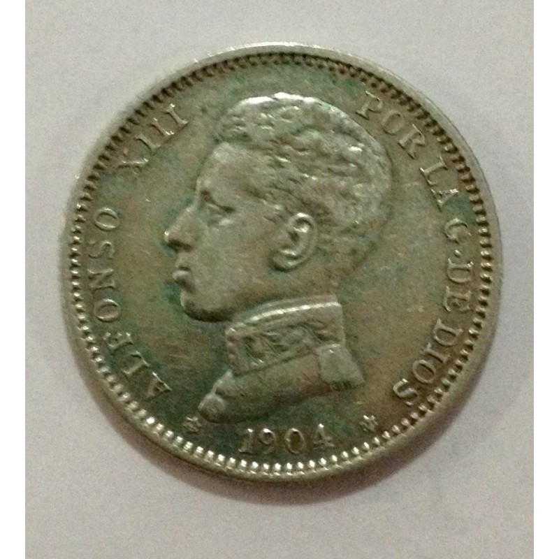 1 Peseta Alfonso XIII 1904*04