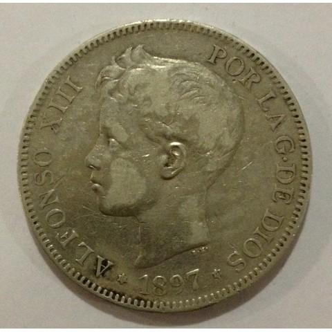 5 Pesetas Alfonso XIII 1897*97