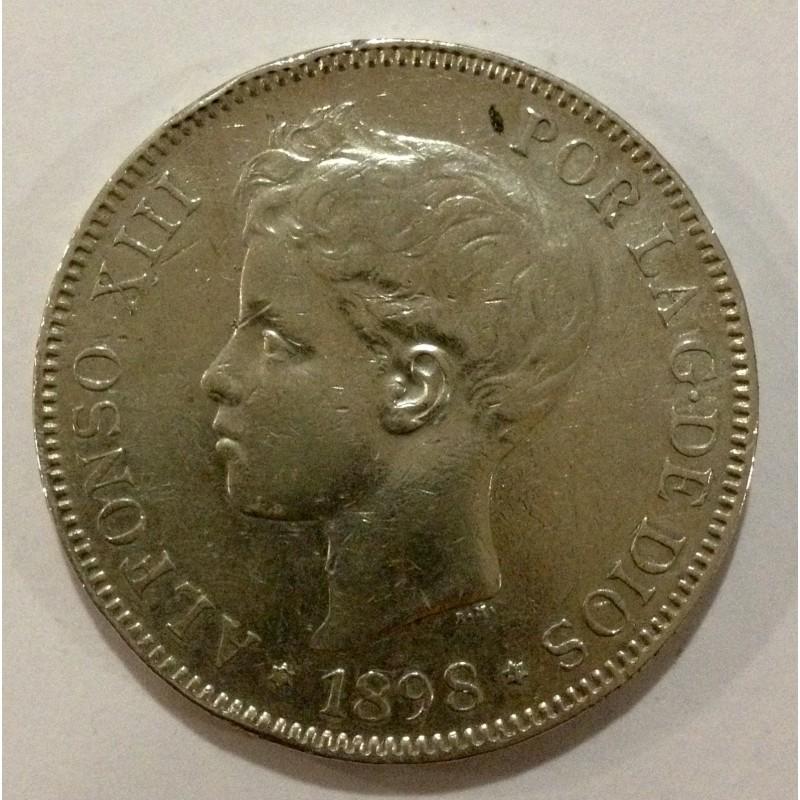 5 Pesetas Alfonso XIII 1898*98