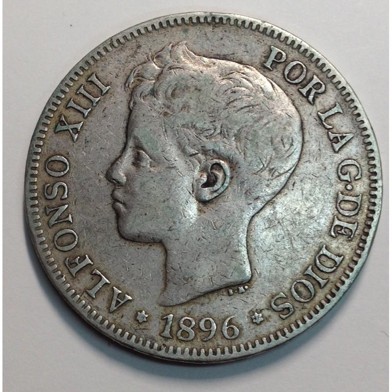 5 PESETAS ALFONSO XIII 1896 *96 PGV